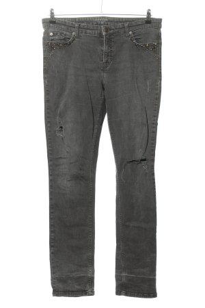 Cambio Jeans Jeansy ze stretchu jasnoszary W stylu casual