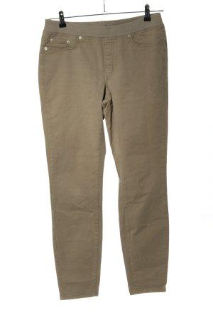 Cambio Jeans Spodnie ze stretchu khaki W stylu casual