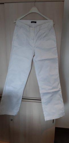 Cambio Jeans Jeansy z prostymi nogawkami biały Bawełna