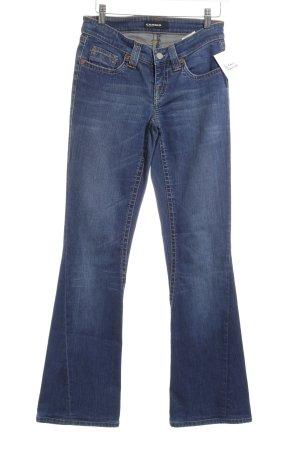Cambio Jeansschlaghose stahlblau Casual-Look