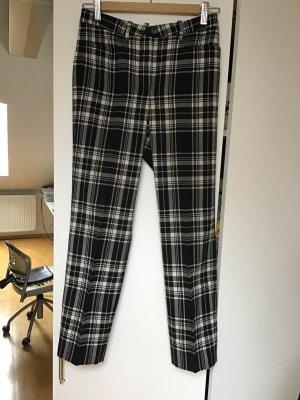 Cambio Pantalone di lana nero-bianco Lana vergine
