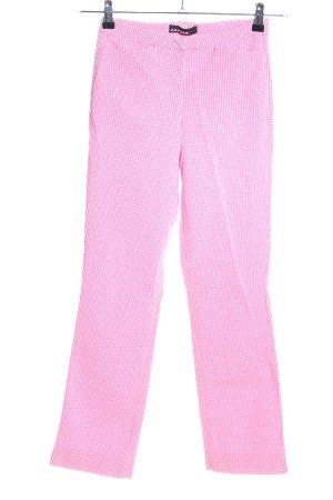 Cambio Karottenhose pink-weiß Karomuster Casual-Look