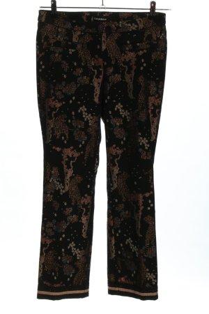Cambio Pantalón de pinza alto negro-marrón estampado gráfico look casual