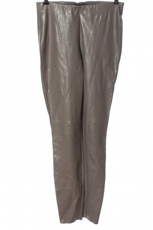 Cambio Faux Leather Trousers light grey casual look