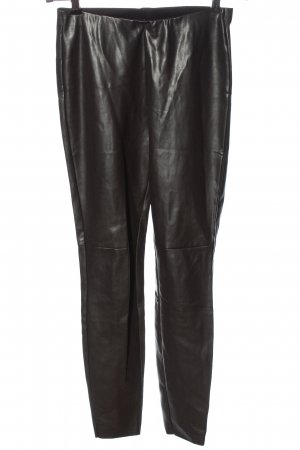 Cambio Faux Leather Trousers black casual look