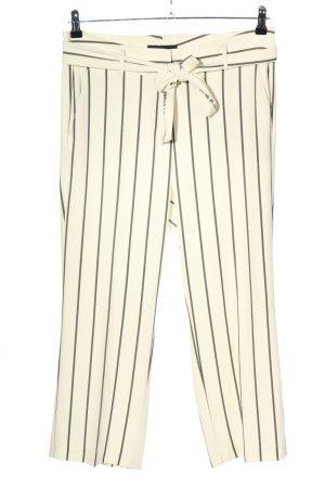 Cambio Pantalone Marlene bianco sporco-nero motivo a righe stile casual