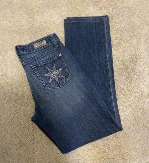 Cambio Jeans Pantalón de campana azul oscuro