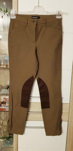 Cambio Pantalon taille haute gris vert