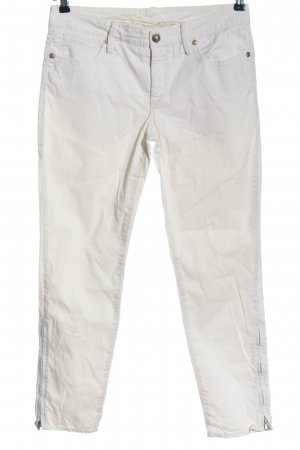 Cambio Slim Jeans white casual look