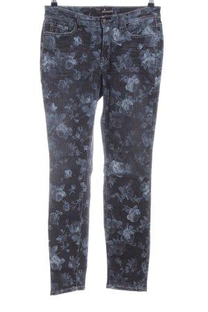 Cambio Skinny Jeans hellgrau-blau Blumenmuster Casual-Look