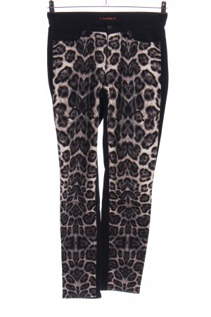 Cambio Slim Jeans schwarz-braun Animalmuster Casual-Look