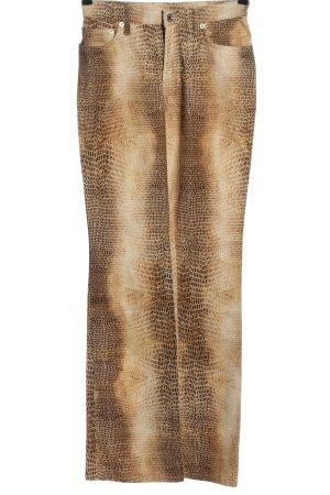 Cambio Straight-Leg Jeans wollweiß-braun Farbverlauf Casual-Look