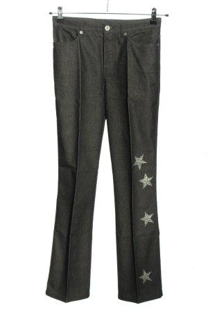 Cambio Slim Jeans hellgrau-silberfarben abstraktes Muster Casual-Look