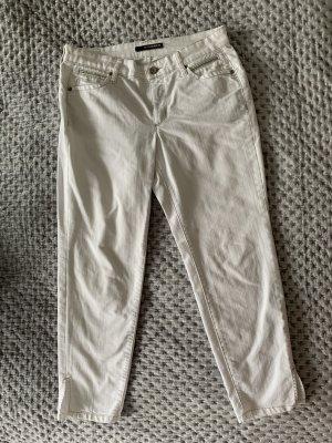 Cambio Jeans 7/8 blanc-gris clair coton