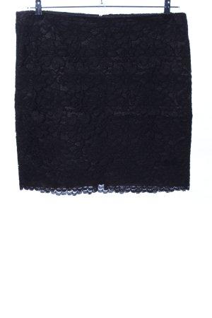 Cambio Falda de encaje negro elegante