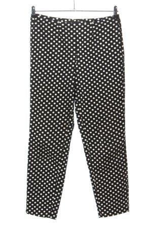 Cambio Stoffhose schwarz-weiß Punktemuster Casual-Look