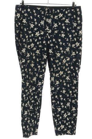 Cambio Pantalon en jersey noir-blanc cassé imprimé allover style décontracté