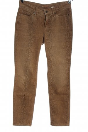 Cambio Pantalone jersey marrone-nero motivo animale stile casual