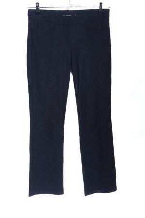 Cambio Stoffhose schwarz-blau Karomuster Business-Look