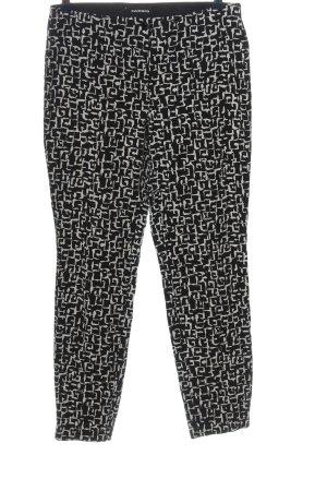 Cambio Stoffhose schwarz-weiß Allover-Druck Casual-Look