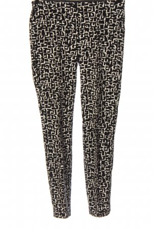 Cambio Jersey Pants black-white abstract pattern elegant