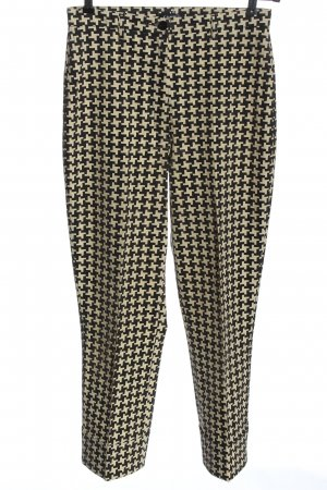 Cambio Jersey Pants natural white-black allover print casual look