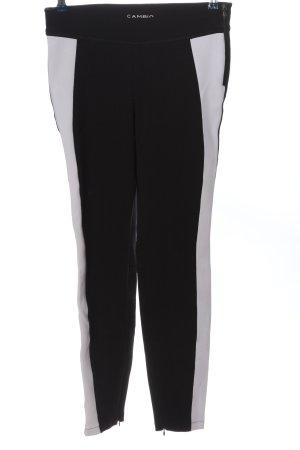 Cambio Stoffhose schwarz-weiß Casual-Look