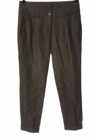 Cambio Stoffhose braun meliert Casual-Look