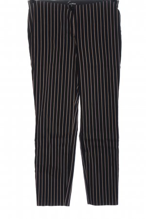 Cambio Stoffhose schwarz-wollweiß Streifenmuster Casual-Look