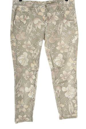 Cambio Jersey Pants cream-light grey allover print casual look
