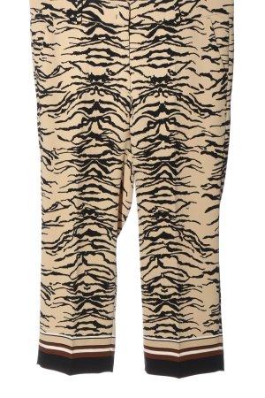 Cambio Stoffhose wollweiß-schwarz abstraktes Muster Elegant