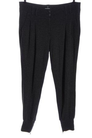 Cambio Pantalon en jersey gris clair moucheté style décontracté