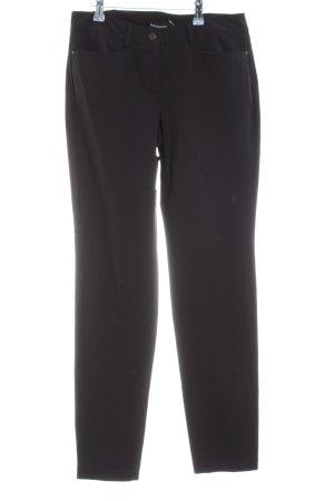 Cambio Stoffhose schwarz schlichter Stil