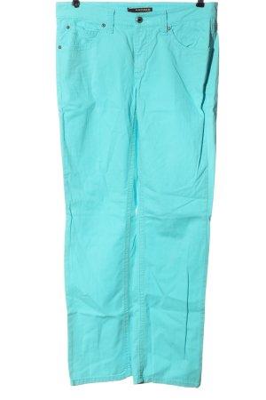 Cambio Jeansy z prostymi nogawkami turkusowy W stylu casual