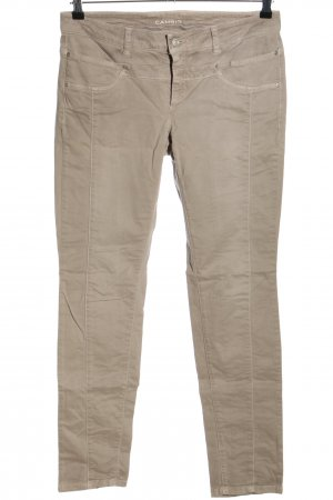 Cambio Jeans coupe-droite crème style décontracté