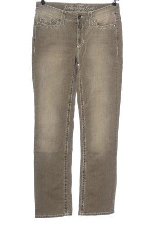 Cambio Jeansy z prostymi nogawkami kremowy W stylu casual