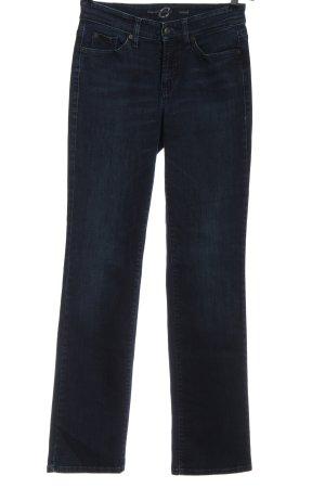 Cambio Jeansy z prostymi nogawkami niebieski W stylu casual