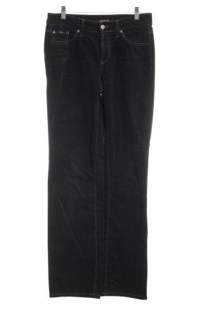 Cambio Jeansy z prostymi nogawkami czarno-brązowy W stylu casual