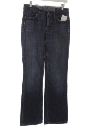 Cambio Jeans coupe-droite bleu acier style décontracté