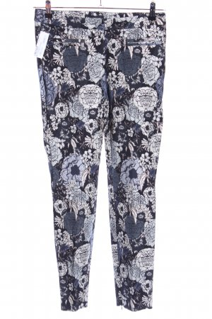 Cambio Stretch Trousers flower pattern casual look