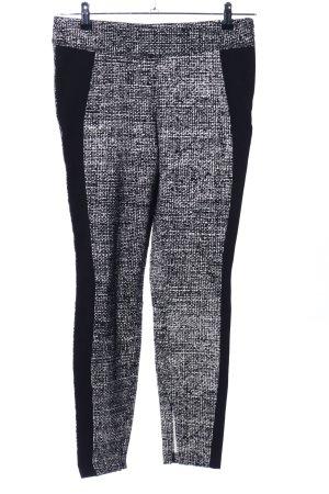 Cambio Pantalon strech noir-blanc moucheté style décontracté
