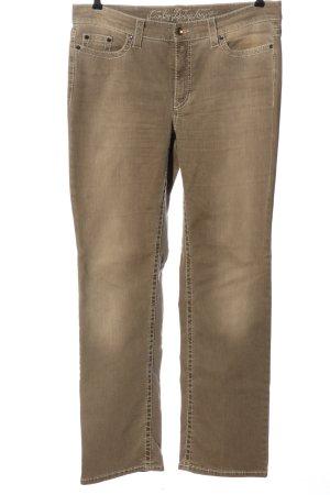 Cambio Jeans coupe-droite bronze style décontracté