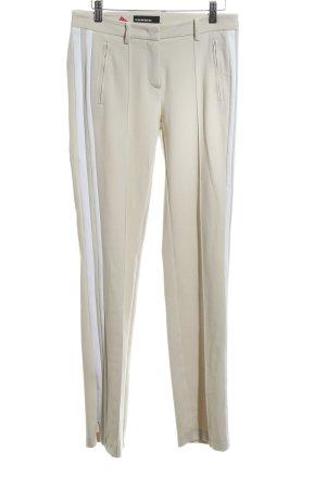 Cambio Stretchhose wollweiß-weiß Streifenmuster Business-Look
