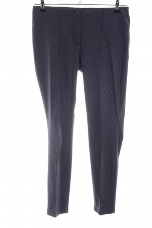 Cambio Stretchhose lila abstraktes Muster Business-Look