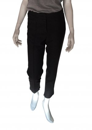 Cambio Pantalon taille basse gris anthracite viscose