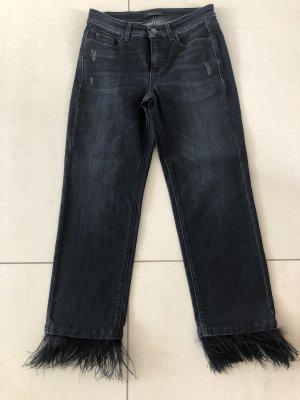 Cambio Jeans Jeansy 7/8 czarny