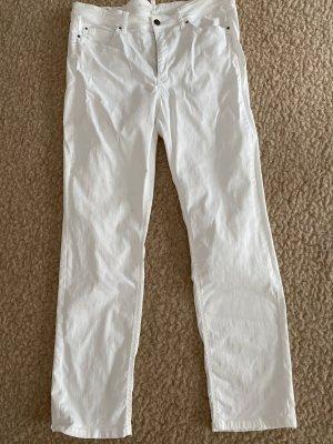 Cambio High Waist Jeans white cotton