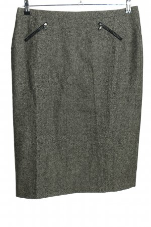 Cambio Wool Skirt light grey flecked casual look