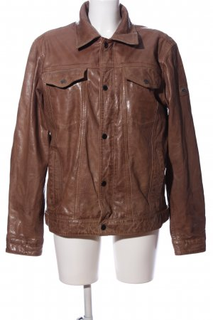 Camel Active Leather Jacket brown casual look