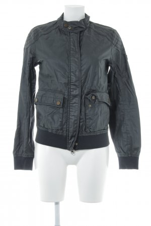 Camel Active Faux Leather Jacket black Logo application